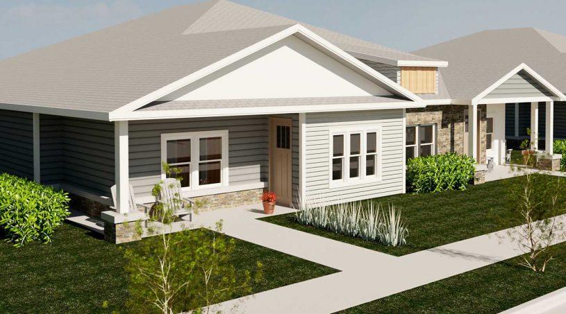 Pittsburg, Kansas Creekside Villas - The Redbud Exterior Image Rendering