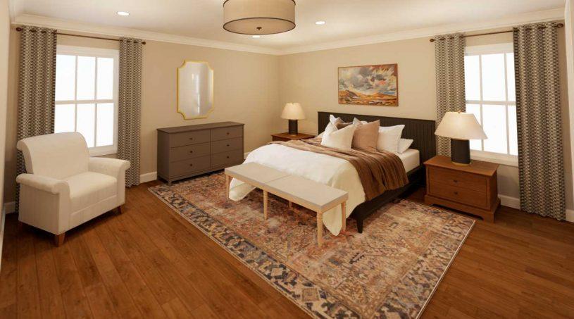 Pittsburg, Kansas Creekside Villas - Interior Bedroom Image Rendering