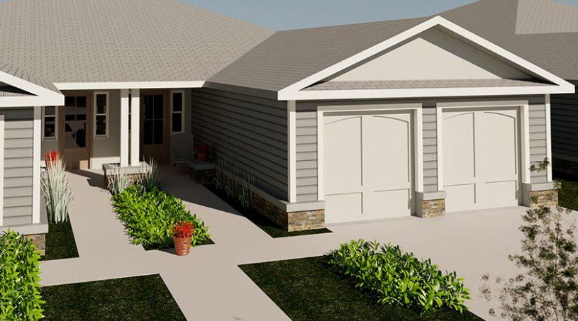 Pittsburg, Kansas Creekside Villas - The Magnolia Exterior Image Rendering